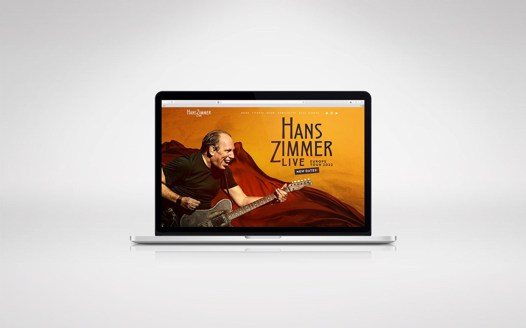 Hans Zimmer Live Wordpress Webdesign